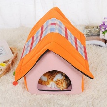 Lovely Dog House Mat Cat Bed Cat House Mat Dog Bed Puppy Blanket Cushion Blanket Kennel Nest Pet Bed Sofa Dog Cage Pet Product(China)