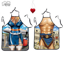 Durable Funny Sexy Cooking Kitchen Apron Dinner Party Apron For Men Women Gift Antifouling Wear Apron Butcher BBQ Party Dress(China)