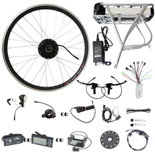 250W 350W 500W E-bike Wheel Motors 36V 12AH Rear Carrier Rack Battery LCD Display Controller Ebike Electric Bike Bicycle Kit
