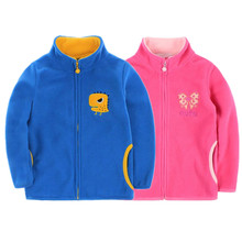 2017 spring autumn fleece children's jackets for girls child hoodies kids cardigan toddler coats for boys baby sweatshirts 2-8T(China)