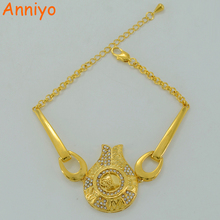 Anniyo Turks Coin Bracelet for Women , Gold Color Bangle Hand Chain Middle East Jewelry Turkish Ottoman #004811(China)