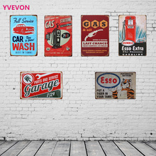 Metal Vintage Garage Plaque Retro Car Sign GAS STATION Decor Home Plate Mechanic Repair Wall Letter Display 20x30cm(China)