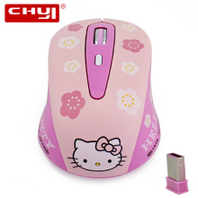 Mouse Wireless Pink Hello Kitty 2.4GHz 1600DPI Wireless Optical Gaming Mouse Mice sem fio for PC Laptop Gifts Free Shipping(China)