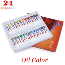 12 Colors 12ml Oil Paint Sets for Children Oil Colors Tubes Professional Oil Paint Paintcolor Set Artist Painting Drawing Tools(China)