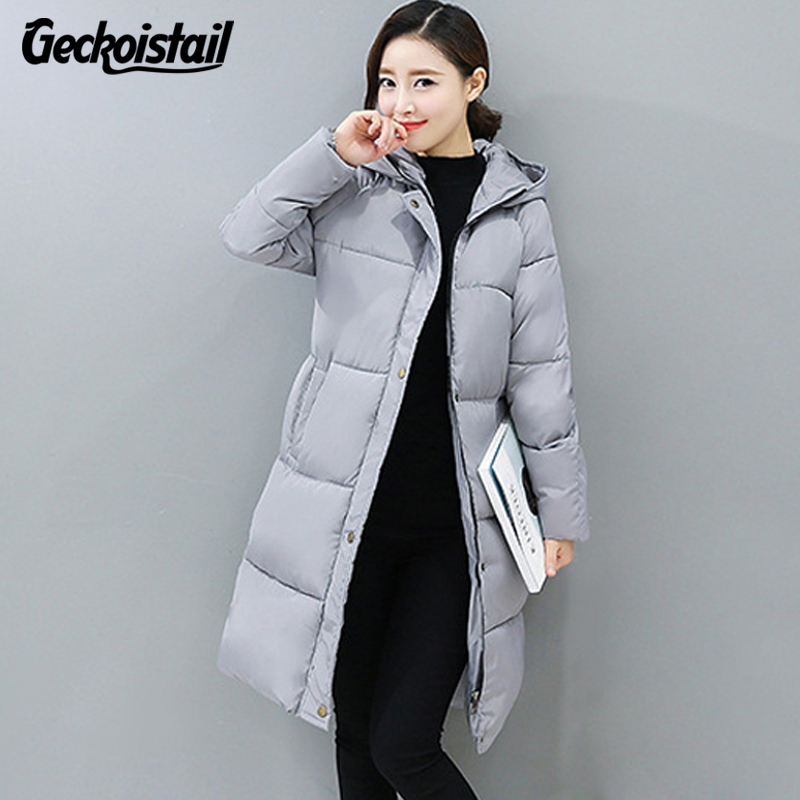 Geckoistail  Winter New Fashion Long Coat Slim Thickened Turtleneck Warm Jacket Cotton Padded Zipper Plus Size Outwear CasacosÎäåæäà è àêñåññóàðû<br><br>