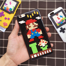 ZUCZUG DIY Case for iPhone 7 6 6S Plus Fashion Original DIY Legos Blocks Brick Case SuperMarios Minions GameBoy Pokemon Cover(China)