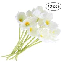 10Pcs Artificial Flowers Handcraft Artificial PU Poppy Flower Somnus for Home Bedroom Office Table Decor(China)