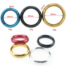 Metal Aluminum Penis Rings Male Cockrings Delayed Ejaculation Adult Products Casing Delay Lock Loops Cock Rings Sex Ring B2-25