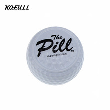 1pc New Design golf pelotasTwo Layer Driving Range Balls Golf ballen Balls Flat Shape Practice Golf Balls Bolas Balle de Golf(China)