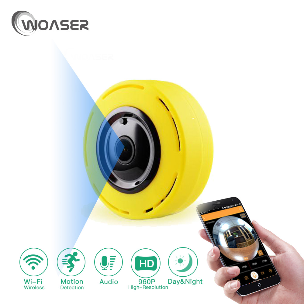 WOASER 960P Wireless Wifi IP Camera TF Card Slot Home Security Camera 1.0M Night Vision CMOS CCTV Network Phone For coke remote<br>