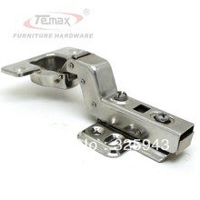 Half Overlay Stainless Steel Hinge Soft Closing Hydraulic Buffer Furniture Hardware Cabinet Hinges Door(China)