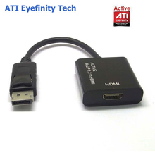 Active ATI Eyefinity HD 4K DisplayPort DP Male to HDMI Female Video Audio HDTV Adapter Converter Multiple Monitor Technology(China)