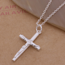 AN114 Hot 925 sterling silver Necklace 925 silver fashion jewelry pendant crucifix /ggoaoxva alcajcja(China)