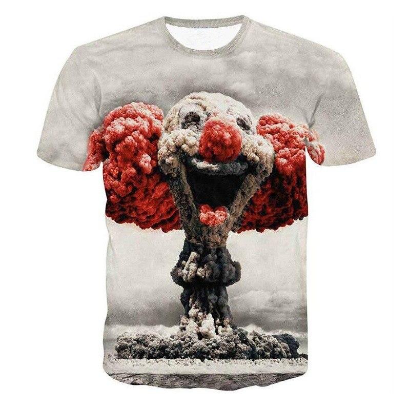 Men Women 3d T shirt Clown Print Short Sleeve T-shirt Men Fashion Brand Digital Printing Summer Round Collar Tops Tees Plus Size 2