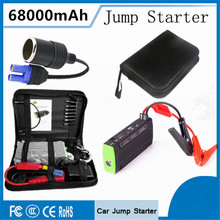 Car Jump Starter 68000mAh Charger for Electronics Mobile Device Laptop Auto Engine Emergency Battery Booster SOS light Free ship