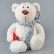 35cm White Color Teddy Bear Stuffed Plush Toy, Baby Kids Doll Gift Free Shipping(China)
