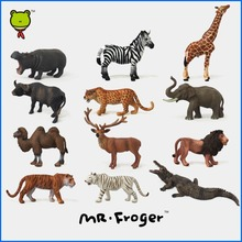Mr.Froger Zoo Plastic Animal Toys Set Mini Wild Animals Figures Model Figurines Kids Toys For Children Panda Bear High Quality