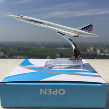 1/400 Scale Metal Concorde Air France Diecast Plane Model Aircraft Model Toys Kids Best Christmas   Gifts Collections About 16cm