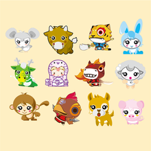 Small Figure Zodiac cartoon child thermal transfer Offset heat transfer pattern DIY clothing patch paste