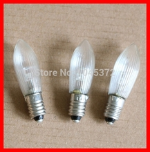 100PCS 10-55V E10 LED C6 Light ,C6 bulb ,C6 christmas lights(China)