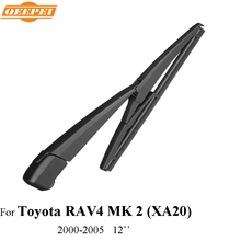 QEEPEI Rear Wiper Blade & Arm For Toyota RAV4 MK 2 (XA20) 2000 2001 2002 2003 2004 2005 Silicone Rubber Windshield Auto Wiper(China)