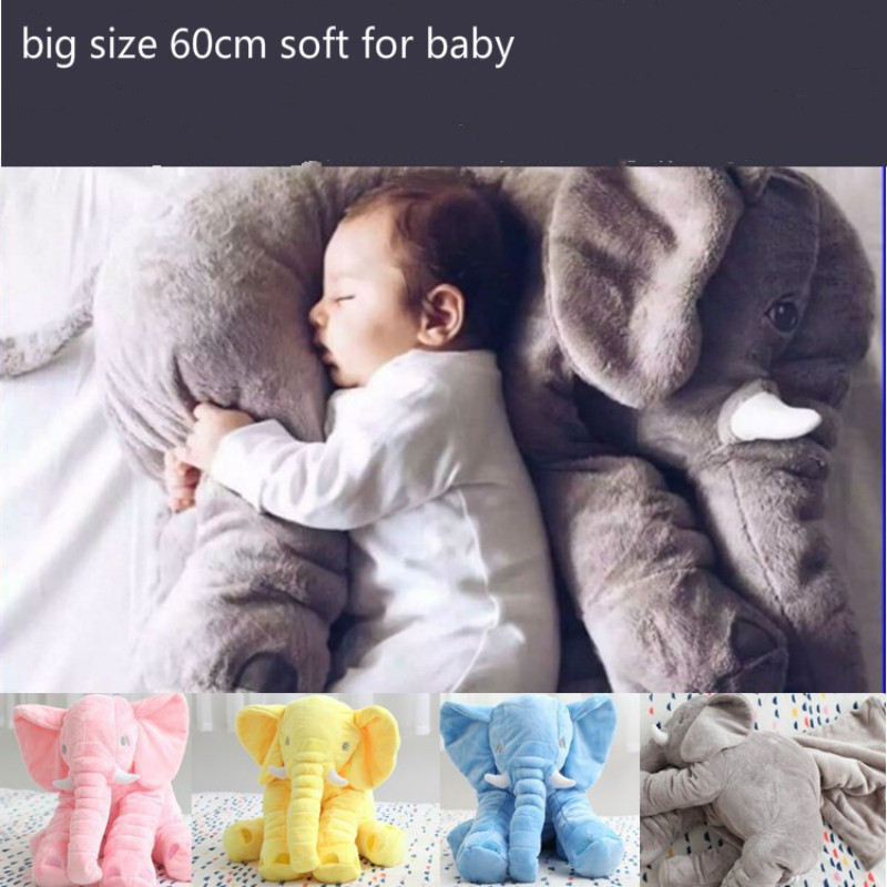 60cm Large Plush colorful soft  Elephant Toy Kids Sleeping Back Cushion Elephant Doll Baby Doll Birthday Gift Holiday Gift<br><br>Aliexpress