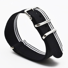 New 2017 Watch 22 mm bracelet MultiColor Navy White Army Military nato fabric Woven Nylon watchbands Strap Band Buckle belt 22mm(China)