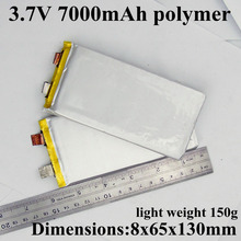 1pc sample 8065130 3.7v 7Ah lithium polymer battery cell 30A High drain 3.7v 7000mah For pack diy power bank power tool etc