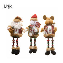Christmas Santa Claus Elk Snowman Toy Doll Christmas Decoration for Home Tree Ornaments Kids Christmas Gift New Year Decorations(China)