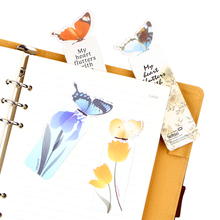10pcs/pack Cute 3D Butterfly Bookmark Paper Clip For Birthday/Christmas Gift Office School Stationery(China)