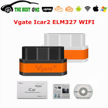 Newest V2.1 Vgate ELM327 iCar2 WIFI OBD2 EOBD CAN Car Diagnostic Tool Vgate iCar 2 ELM 327 WI-FI On IOS/Android OBD-II Scanner(China)