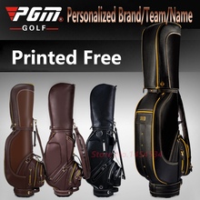 Printed Free! Full Genuine Leather Standard Bag Cover Waterproof PU Men Golf Package Style High-end Personalized Brand/Team/Name