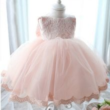 Baby Girl Dress Baptism Dresses Girls Infant Birthday Party Lace Bowknot Dress for Kids Girl Chirstening Vestidos