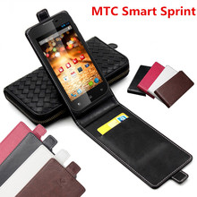 Classic Luxury Advanced Top Leather Flip Leather case For MTC Smart Sprint Phone Cover Case With Card Slot