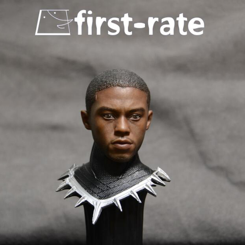 Hot Movie American captain 1/6 Black Panther Chadwick Boseman Head Carving for 12 Figure Doll Action Figure Accessory<br>