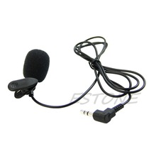 New 2017 arrival Mini Hands Free Clip On Lapel Microphone Mic For PC Notebook Laptop Skype 3.5mm Hot Sale