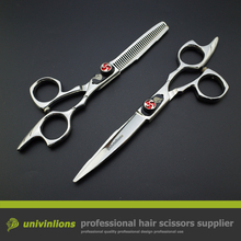 "6"" VG10 barber hairdressing japanese scissors hairdresser razor hair scissors haircut barber kit professional hair clippers set"