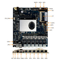 Dual core motherboard with 5 lan, IDE, SATA, WIN 7/8/XP, Linux