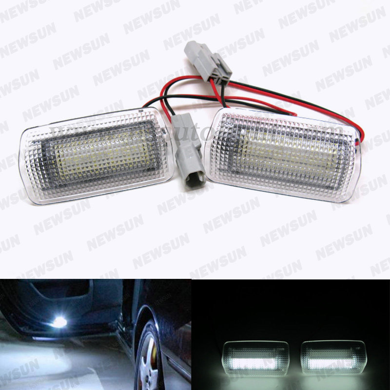 High Quality 18 LED SMD 2835 for toyota Is250 led door courtesy light for toyota 12V led luggage footwell door step light<br><br>Aliexpress