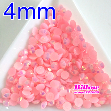 4mm 1000pcs Lt Pink Magic color AB jelly resin rhinestones Nail Art applique strass SS16 non hot fix for DIY Nails Art B2718(China)