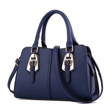 Hot sale Fashion Designer Brand Women Leather Handbags ladies Shoulder bags tote Bag female Retro Vintage Messenger Bag blue