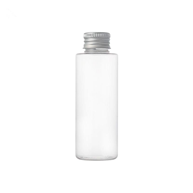 New 100ml Plastic Travel Empty Jars Perfume Bottle Liquid Container Aluminum Cap Silver/Gold