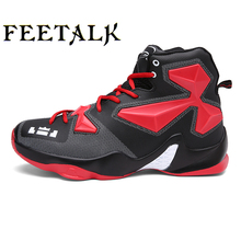 Men Basketball Shoes Male Ankle Boots Outdoor Men Sneakers Athletic Sport Shoes Women Basketball Sneakers(China)