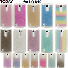 Bling Luxury 3D Glitter Phone Case For LG K10 LTE K420N K430 K430ds F670 Soft TPU Silicone Rainbow Back Cover For LG K10 Coque