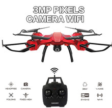 3MP WIFI RC Drone Quadcopter with Camera HD Headless 2.4G 6-Axis Real Time RC Helicopter Quadcopter Christmas gift kids Toys(China)