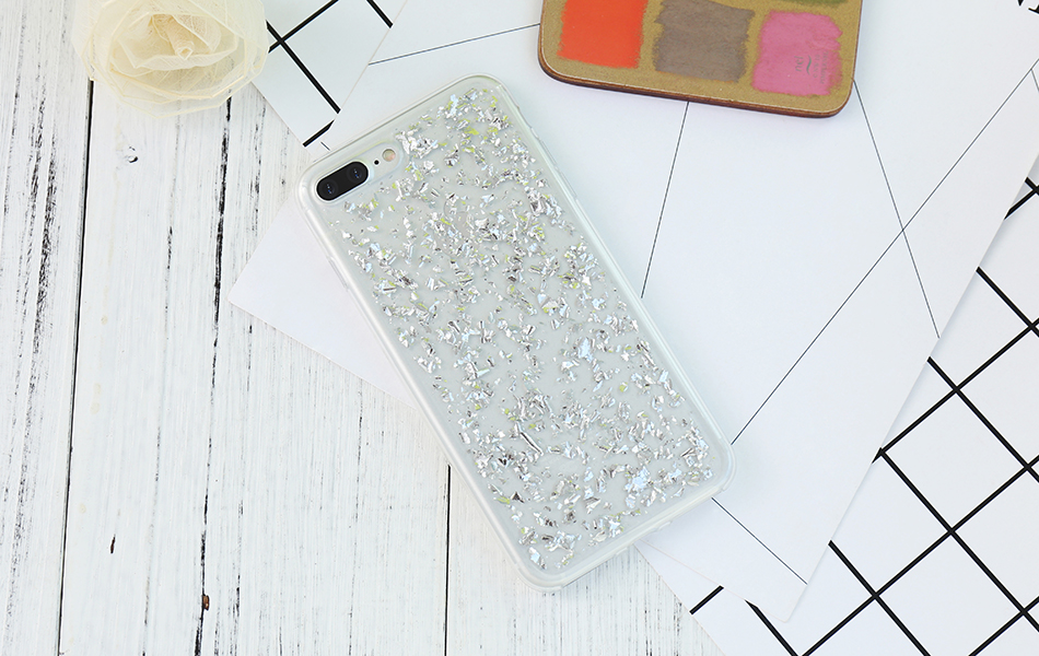 DOEES For iPhone 7 6 6S Plus 5 5S SE Case Luxury Cute Glitter Clear Case For Samsung Galaxy S8 Plus S7 S6 Edge S5 Note 7 5 Back Cover (2)