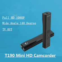 T190 HD Mini Camcorder Full HD 1080P Mini Camera Video Voice Recording In H.264 With TV Out Mini DV Meeting Pen Camera