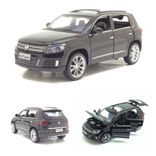 New 1/32 VW Volkswagen Tiguan Diecast Metal SUV Alloy Car Model For Kids Christmas Gifts Collection Free Shipping(China)