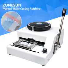ZONESUN 68 or 72 Character PVC Printing Machine Gift Card Credit ID Manual Embosser Letterpress Rotogravure(China)