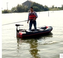 Wear-resistant laminated ship thick plywood 2-4 person fishing inflatable boat rubber boat with motor engine